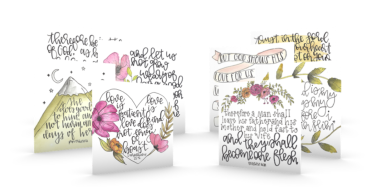 8 Handcrafted Verse Cards