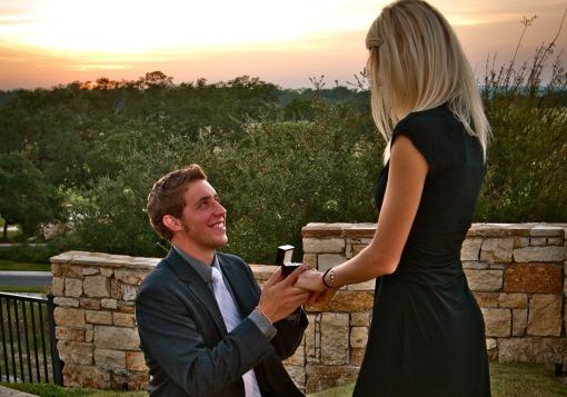 Zack proposing to Kristen
