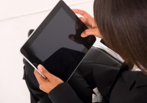 Girl on an iPad