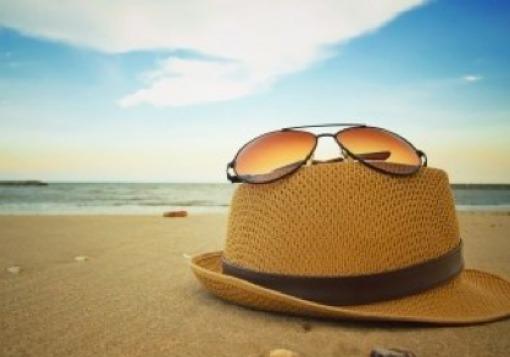 Hat on a beach