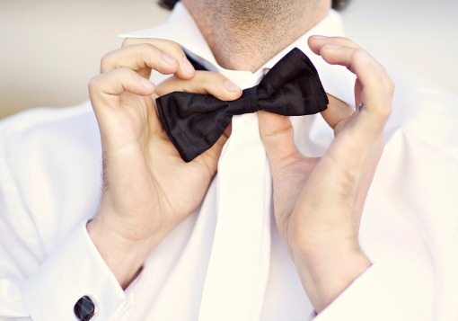 Guy wearing bow tie