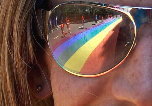 Girl with Homosexual Sunglasses