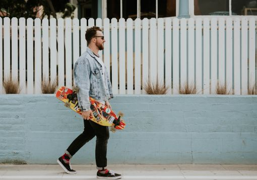 guy and skateboard